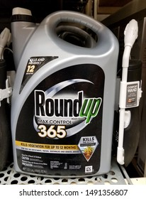 Wilmington, Delaware, U.S.A - August 29, 2019 - RoundUp Max Control 365 weed killer