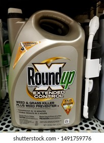 Wilmington, Delaware, U.S.A - August 29, 2019 - RoundUp Extended Control weed and grass killer