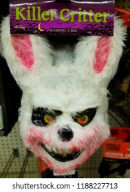 Wilmington, Delaware, U.S.A - September 23, 2018 - Scary 'Killer Critter' Halloween mask for sale at Walgreens
