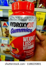 Wilmington, Delaware, U.S.A - September 23, 2018 - Hydroxycut Gummies to assist weight loss with vitamins for sale at Walgreens