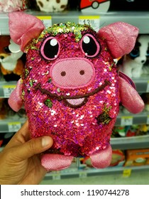Wilmington, Delaware, U.S.A - September 23, 2018 - Pink 'Shimmeez' toys for sale at Walgreens