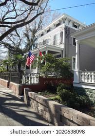 WILMINGTON, NC / USA - FEB 2017: Charming Southern Home in Wilmington, North Carolina