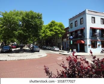 WILMINGTON, NC / USA - Jan 2015: Center of town in downtown Wilmington, North Carolina, near Riverwalk