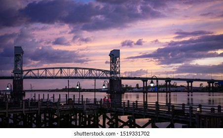 Wilmington, NC / USA - Sept 13-16 2019 An historical port city on the U.S. southern Atlantic coast. Old buildings refurbished, repurposed. Downtown along Cape Fear River is vibrant and active.