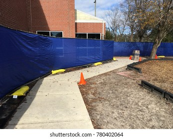 Wilmington North Carolina USA. December 21, 2017. YMCA of South Eatstern North Carolna being rebuilt after fire damage 2 years prior.