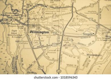 Wilmington on map
