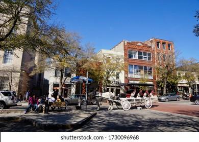 Wilmington USA - 8 March 2015 : Downtown Wilmington North Carolina USA