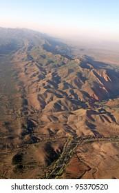 Wilpena Pound aerial view. Flinders Ranges National Park. Australia
