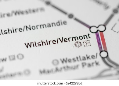 Wilshire/Vermont Station. Los Angeles Metro map.