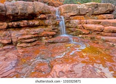 Wilson Falls. A waterfall in Wilson Canyon near Sedona Arizona.