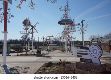 Wilson, North Carolina USA - January 26, 2019: Vollis Simpson Whirligig Park