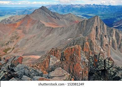 Wilson Peak as viewed from Mount Wilson Summit, Rocky Mountains, Colorado