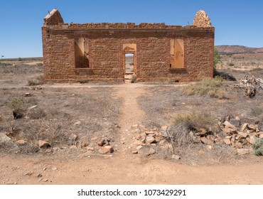 Wilson, South Australia, Australia - March 14, 2018: Ruins of the old Station Masters Residence situated in the Flinders Ranges