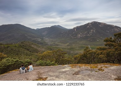 Wilsons Promontory November 5th 2018 : Looking out from the summit of Mount Bishop across the landscape around Tidal River in Wilsons Promontory national park, Victoria, Australia