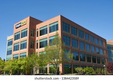 Wilsonville, Oregon - Apr 28, 2019: The Oregon Tech Portland-Metro campus. The Oregon Institute of Technology, Wilsonville is a public polytechnic and research university.