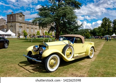 """Wilton, Wiltshire / UK - August 10 2014: A 1926 Rolls Royce 40/50 HP Silver Ghost Roadster """"Playboy"""" at the Wilton House Classic & Supercar Show 2014,Salisbury, Wiltshire"""
