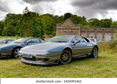 Wilton, Wiltshire / UK - August 10 2014: A Lotus Esprit V8 at the 2014 Wilton Classic & Supercar Show, Wilton House, Wiltshire, United Kingdom