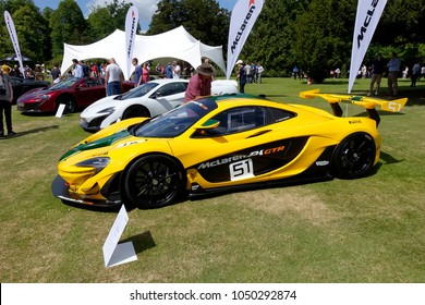 Wilton, Wiltshire, UK - June 7, 2015: A McLaren P1 GTR racing car at the Wilton House Classic & Supercar Show