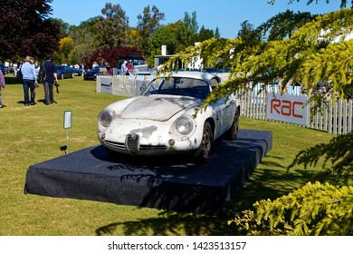 Wilton, Wiltshire / UK - June 7 2015: An Alfa Romeo SZ1 Coda Tronca, aluminium-bodied prototype, based on an Alfa Giulietta, at the Wilton Classic & Supercar Show, Salisbury, Wiltshire, UK
