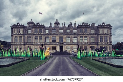 Wiltshire, England - October 11, 2017: Longleat house was built by Sir John Thynne and was designed mainly by Robert Smythson