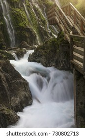 The Wimbachklamm the Gateway Wimbachtales, one of the three main valleys of Berchtesgaden National Park at the foot of the Watzmann and Hochkalter.