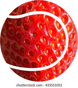 Wimbledon - A tennis ball shape with an image of a strawberry making up the ball