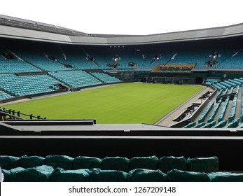 Wimbledon, United Kingdom. August 2016. Centre Court after the Championships. All England Lawn Tennis and Croquet Club.
