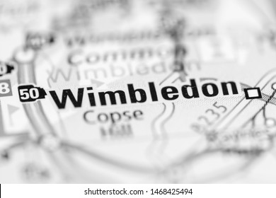 Wimbledon. United Kingdom on a geography map