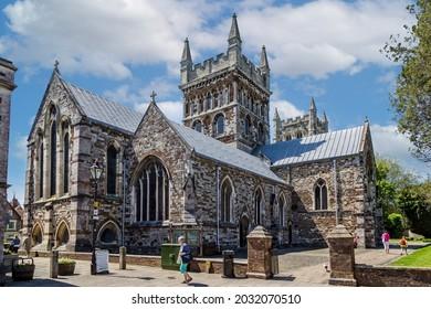 Wimborne Minster Church in Wimborne Minster, Dorset, UK on 1 June 2013