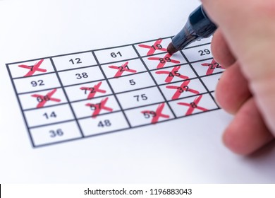 Win at bingo by fully ticked numbers