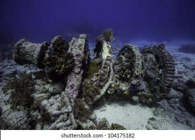 Winch on Molasses Reef in Key Largo, Florida