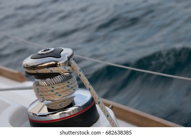 winch on sailboat