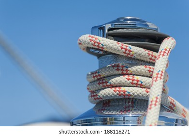 Winch with rope