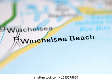 Winchelsea Beach. United Kingdom on a geography map