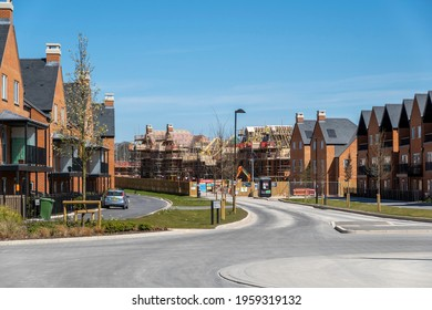 Winchester, Hampshire, England, UK. 2021. New housing north of Winchester  with some under construction.