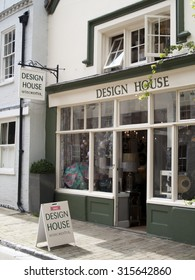 Winchester, The Square, Hampshire, England - September 4, 2015: Design House, team of interior designers, design service for residential and commercial properties