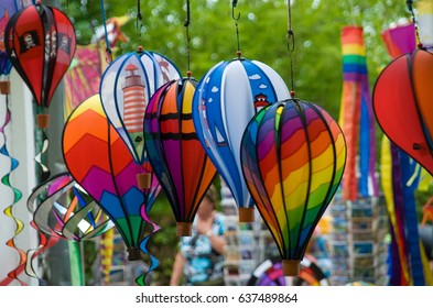 Wind chime windbells red yellow blue color