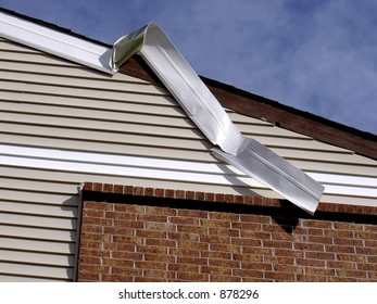 Wind damaged metal siding