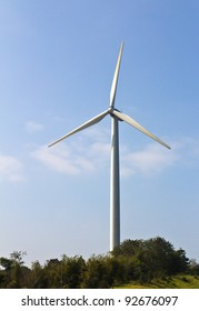 Wind energy turbine power station
