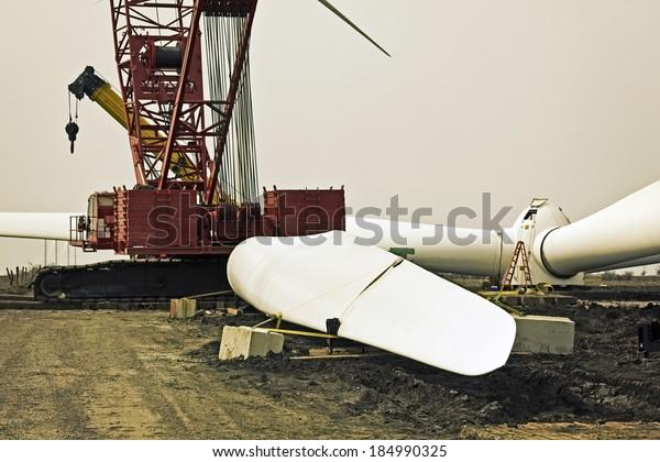 Wind Farm - construction in progress