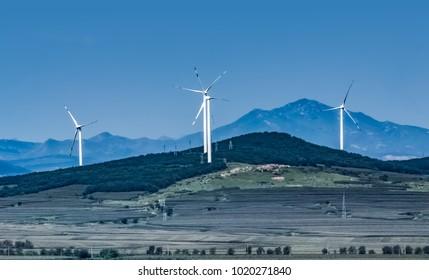 Wind Farm Landscape of Jinzhou City, Liaoning Province