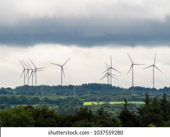 Wind Farm landscape at Livingston, Scotland, UK