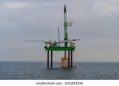 Wind farm offshore energy construction