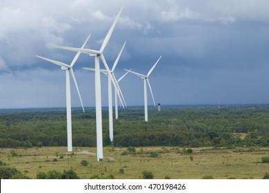 Wind farm on the North coast of Estonia