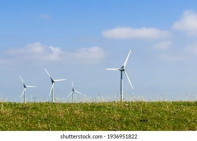 Wind farm on the North Sea coast of Germany.