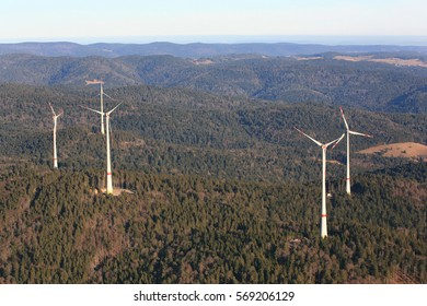 Wind farm Rohrenkopf in Gersbach in the southern Black Forest in Germany