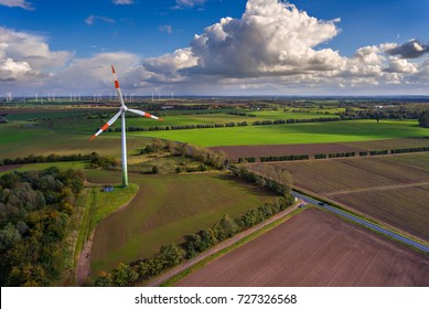 Wind farm - Spring landscape of western Germany