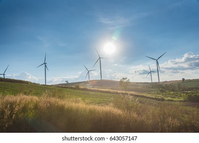 Wind Farm and Sunset