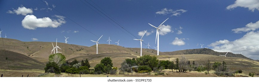 Wind farm Washington State USA