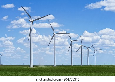 Wind farm in West Texas.